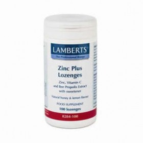 LAMBERTS Zinc Plus Lozenges Καραμέλες ψευδαργύρου με Vitamin C+ εκχύλισμα πρόπολης 100 δισκία