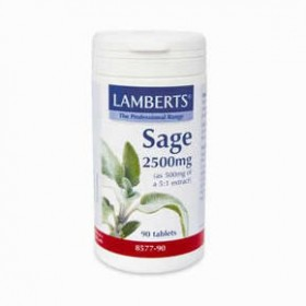LAMBERTS Sage 2500mg Φασκόμηλο 90 δισκία
