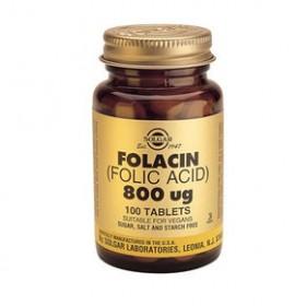 SOLGAR Folacin (Folic Acid) 800mg 100 δισκία