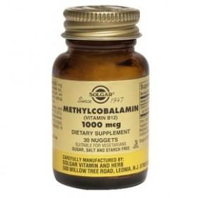 SOLGAR Methylocobalamin Vit B-12 1000μg 30 nuggets