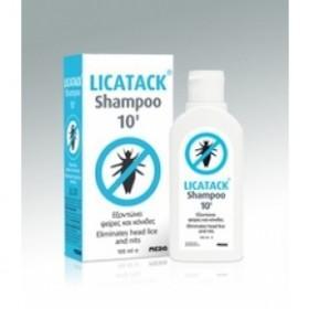 LICATACK SHAMPOO 10' Εξοντώνει Ψείρες και Κόνιδες 100ml