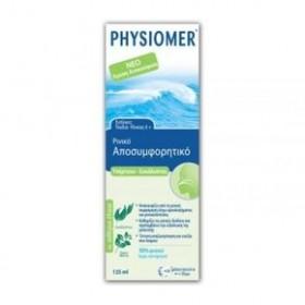 PHYSIOMER Ρινικό Αποσυμφορητικό για Ενήλικες και Παιδιά 6+ - Υπέρτονο με Ευκάλυπτο - 135ml