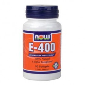 NOW FOODS Vitamin E-400 50 Soft Gels (d-a-tocopherol)