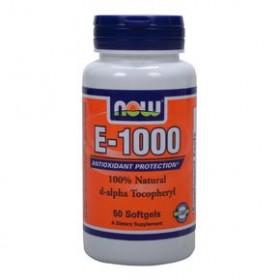 NOW FOODS Vitamin E-1000 IU 50 Soft Gels