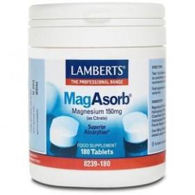 LAMBERTS Mag Asorb Μαγνήσιο 150mg 180 δισκία