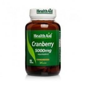 HEALTH AID Cranberry Extract 5000mg Προστασία της Ουροδόχου Κύστης και Πρόληψη Βακτηριακών Μολύνσεων 60 caps