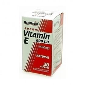 HEALTH AID Vitamin E 600iu Natural capsules 60's