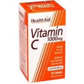HEALTH AID Vitamin C 1000mg  με Γέυση Πορτοκάλι 30 Μασώμενα δισκία
