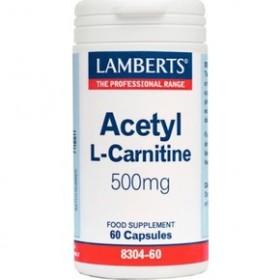 LAMBERTS Acetyl L-Carnitine 500mg 60 caps