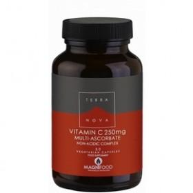 TERRANOVA Vitamin C 250mg Complex Βιταμίνη C Με Δυναμικό Συνδυασμό Υπερτροφών Για Μέγιστη Απορροφησιμότητα και Αποτελεσματικότητα 50 κάψουλες