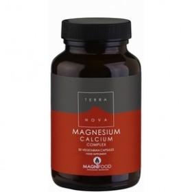 TERRANOVA Magnesium Calcium Complex Μοναδική Σύνθεση Μαγνησίου Σε Υψηλή Δοσολογία 500mg Για Μέγιστη Απορρόφηση 50 κάψουλες