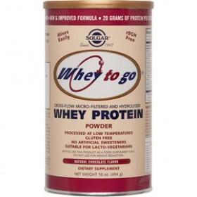 SOLGAR Whey-To-Go Protein Σκόνη με Γεύση Σοκολάτας 454gr