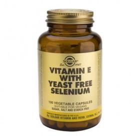 SOLGAR Vitamin E with Yeast-Free Selenium 100 δισκία