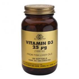 SOLGAR Vitamin D3 25mg 1000IU 100 δισκία