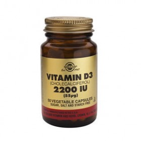 SOLGAR Vitamin D3 55mg 2200IU 50 δισκία