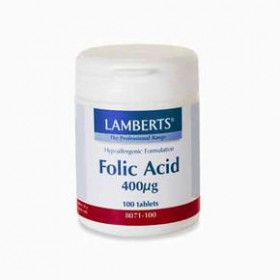 LAMBERTS Folic Acid Φυλλικό οξύ 400 mcg 100 δισκία