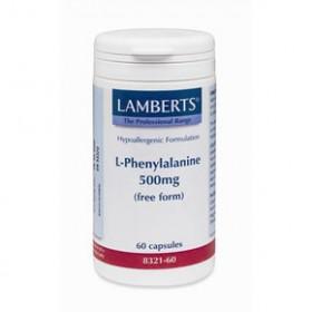 LAMBERTS L-Phenylalanine Φαινυλαλανίνη 500mg 60 δισκία