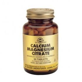 SOLGAR Calcium Magnesium Citrate 50 δισκία