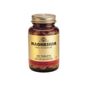 SOLGAR Magnesium with Vitamin B6 100 δισκία