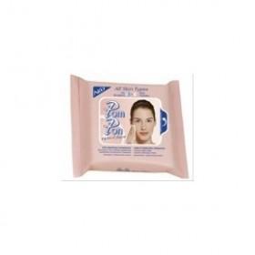 POM-PON eyes & face Υγρά μαντηλάκια ντεμακιγιάζ για όλους τους τύπους δέρματος με βιταμίνες Ε + C 20τεμ