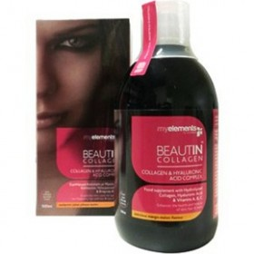 MY ELEMENTS Beautin Collagen & Hyaluronic Acid Complex με Γεύση Μάνγκο-Πεπόνι 500ml