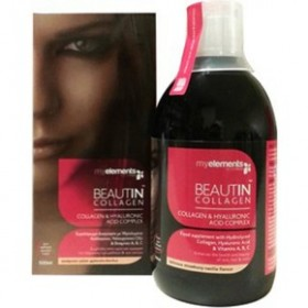 MY ELEMENTS Beautin Collagen & Hyaluronic Acid Complex με Γεύση Φράουλα-Βανίλια 500ml