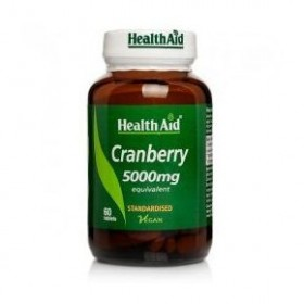Health Aid Cranberry Extract tablets 5000mg  60's Προστασία της ουροδόχου κύστης και πρόληψη βακτηριακών μολύνσεων