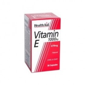 HEALTH AID Vitamin E 1000iu Natural capsules 30's