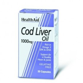 HEALTH AID Cod Liver Oil 1000mg 30 veg caps