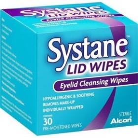 ALCON Systane Lid Wipes Μαντηλάκια Καθαρισμου των Βλεφάρων 30 μαντηλάκια