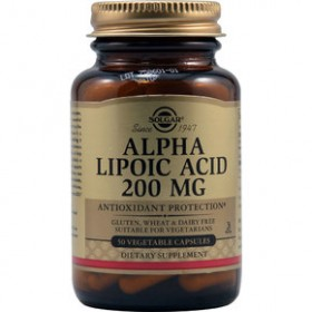 SOLGAR Alpha Lipoic Acid 200 mg 50 δισκία