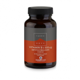 TERRANOVA Vitamin Β12 500 μg Complex Μοναδική Σύνθεση Βιταμίνης Β12 για Μέγιστη Απορρόφηση 50 κάψουλες