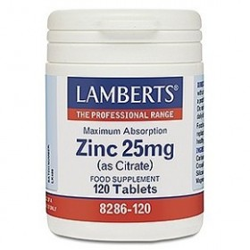 LAMBERTS Zinc (as Citrate) 25 mg Ψευδάργυρος 120 δισκία