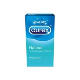 DUREX Natural Προφυλακτικά 6 τεμ.