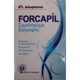 ARKOPHARMA FORCAPIL Συμπλήρωμα διατροφής για τα μαλλιά και τα νύχια 60 Κάψουλες