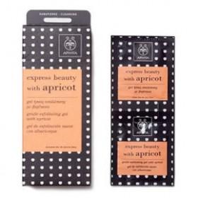APIVITA Express Beauty Gel ήπιας απολέπισης με βερύκοκο 2x8ml