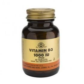 SOLGAR Vitamin D3 25mg 1000IU 90 δισκία