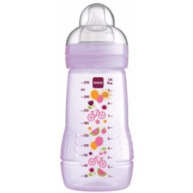 MAM Easy Active Baby Bottle Μπιμπερό 270ml Μώβ 2m+
