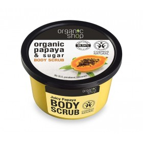 ORGANIC SHOP Body Scrub Juicy Papaya Scrub Σώματος Παπάγια & Ζάχαρη 250ml