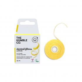 THE HUMBLE CO. Dental Floss Lemon Οδοντικό Νήμα Καθαρισμού με Γεύση Λεμόνι 50m