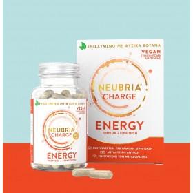 NEUBRIA Charge Energy Συμπλήρωμα Διατροφής για Ενέργεια και Πνευματική Εγρήγορση 60 Κάψουλες