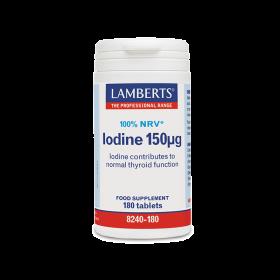 LAMBERTS Iodine Ιώδιο 150μg 180 Δισκία