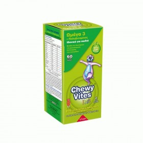 CHEWY Vites Ωμέγα 3 Συμπλήρωμα Διτροφής για Παιδιά 60 τεμάχια
