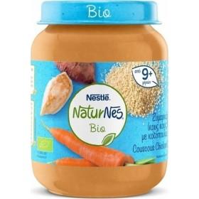 NESTLE NaturNes Bio Έτοιμο Βιολογικό Βρεφικό Γεύμα με Κους Κους , Κοτόπουλο και Λαχανικά απο 8 Μηνών 190g