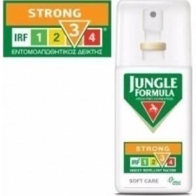 JUNGLE FORMULA Strong Soft Care - Η απαραίτητη καθημερινή σας προστασία από τα κουνούπια Χωρίς Άρωμα 75ml
