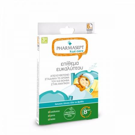 PHARMASEPT Kid Care Επίθεμα Ευκαλύπτου για Ήσυχο Ύπνο Όλο το Βράδι 6τμχ