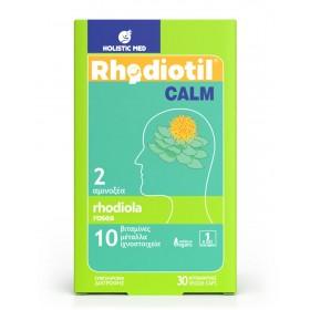 HOLISTIC MED Rhodiotil Calm Συμπλήρωμα Διατροφής για Χαλάρωση και Ηρεμία 30 Κάψουλες