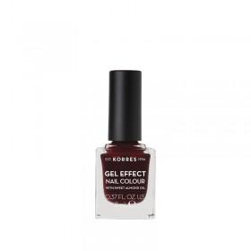 KORRES Gel Effect Nail Colour Ημιμόνιμο Βερνίκι Νυχιών Απόχρωση Νο57 Burgundy Red 11ml