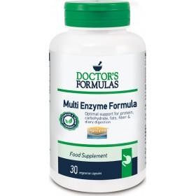 DOCTOR'S FORMULAS Multi Enzyme Formula Συμπλήρωμα Διατροφής Φόρμουλα που Διευκολύνει την Πέψη & Συμβάλλει στη Λειτουργία των Πεπτικών Ενζύμων 30 Κάψουλες