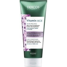 VICHY Dercos Nutrients Vitamin A,C,E Shine Conditioner Μαλακτκή Κρέμα Λάμψης για Θαμπά & Άτονα Μαλλιά 200ml
